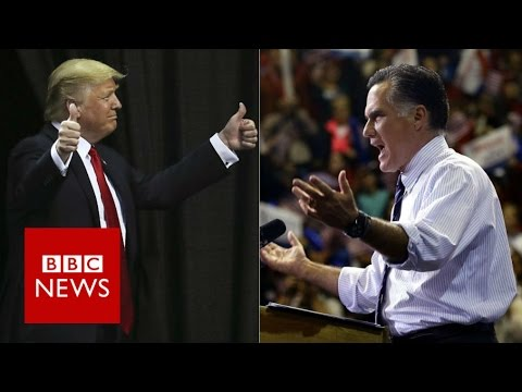 Donald Trump & Mitt Romney's war of words - BBC News