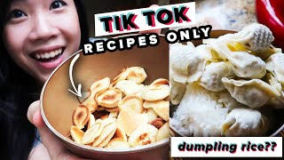 I Only Ate TikTok Recipes For 24 Hours