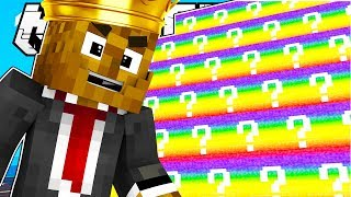 Minecraft KING OF THE HILL RAINBOW LUCKY BLOCK BATTLE MODDED MINIGAME! | Minecraft Mod Challenge