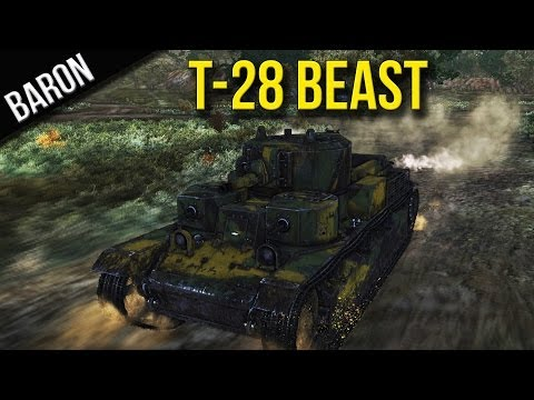 War Thunder Ground Forces - T-28 Beast - Tanks Gameplay