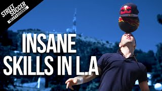 Tabu - Insane Football Skills L.A. with Séan Garnier, Indi Cowie and Taboo | Black Eyed Peas