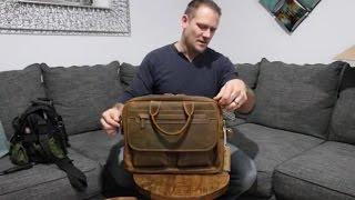 "Kattee Men's Leather Durable Briefcase, 16"" Laptop Bag | Unboxing 💼"