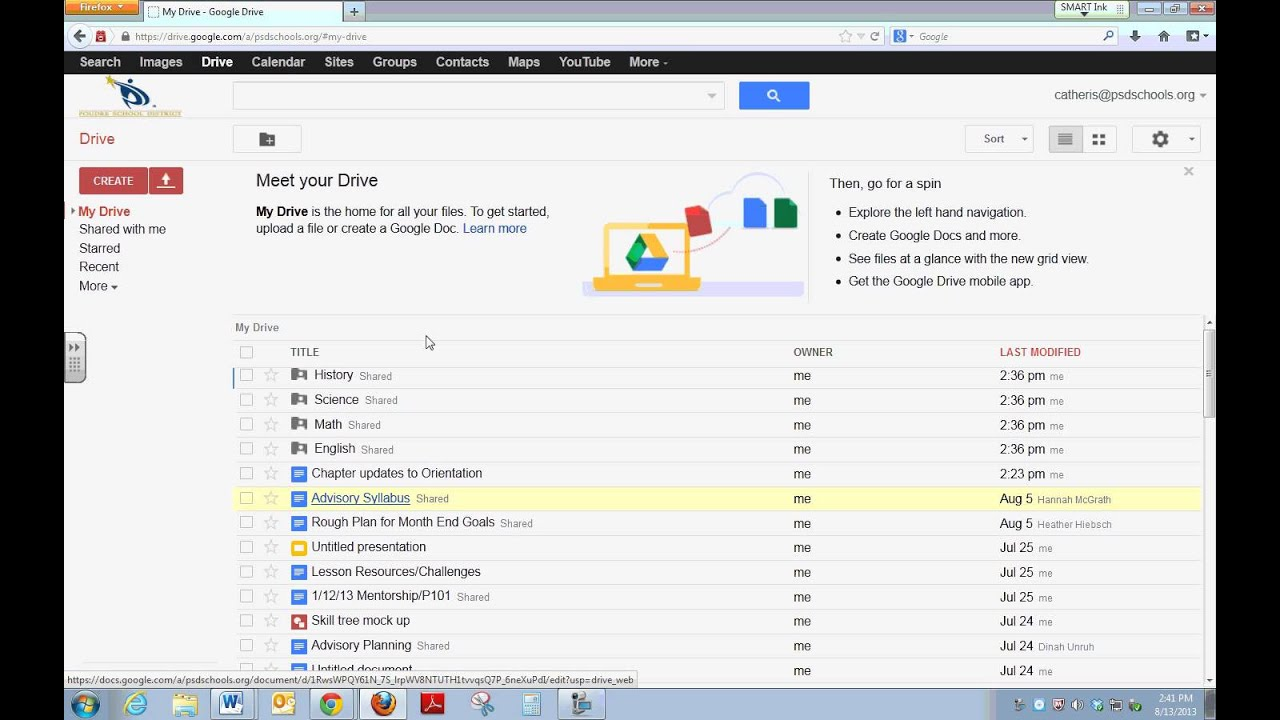 how to sign into google drive