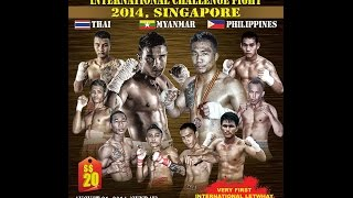 SAW PHYO WAI (MYANMAR - RED) vs JENITO (PHILIPPINES - BLUE) ULC Letwhay Fight 2014, Singapore