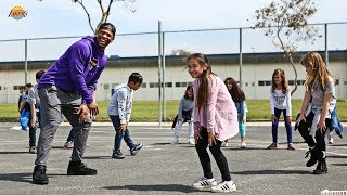 South Bay Lakers Hit the Playground at Edison Elementary