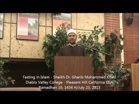 Fasting in Islam - Sheikh Dr. Gharib Mohammed Khalil