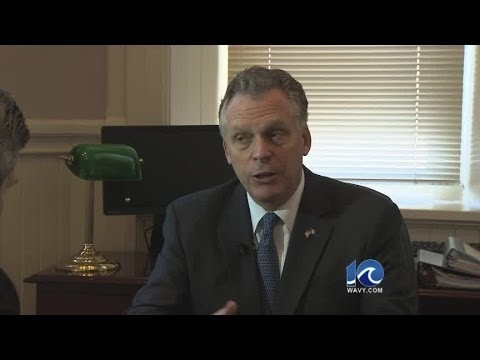WAVY News 10's Andy Fox interviews Virginia Governor-elect Terry McAuliffe