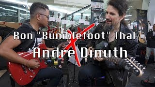 "Download Lagu Ron ""Bumblefoot"" Thal X Andre Dinuth Jamming at HIEND GUITAR EXPERIENCE 2017 (FULL) Gratis STAFABAND"