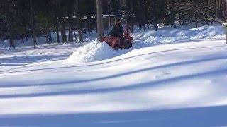 Kubota B2320 plowing deep snow