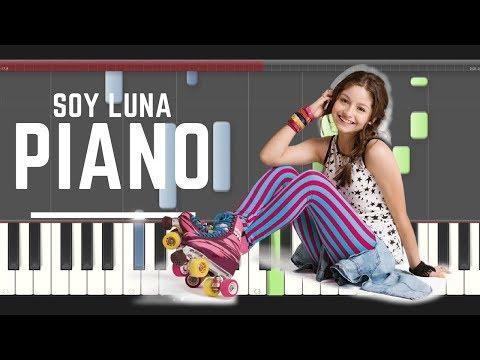 Soy Luna Nada ni Nadie  piano midi tutorial sheet partitura app cover