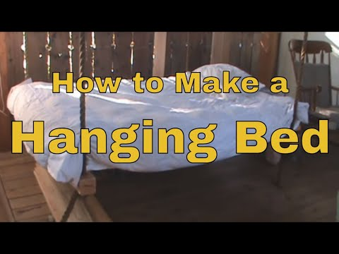 How To Make A Hanging Bed Wooden Hammock Youtube
