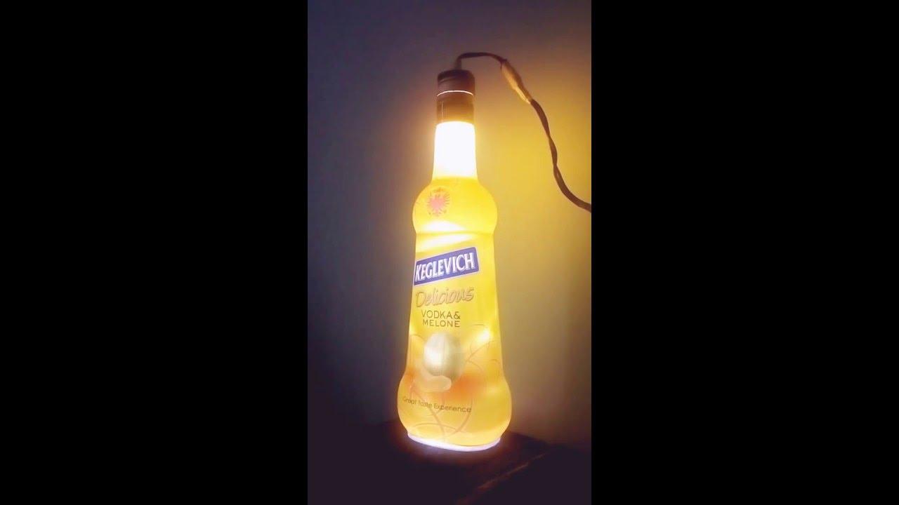 Abat jour con bottiglia di vetro perfect affordable lampadari con