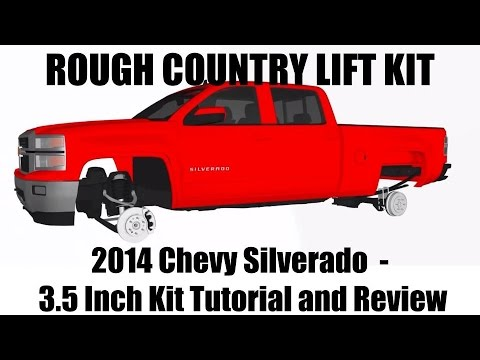 2014 Chevy Silverado Rough Country Lift Kit – 1500 Pickups 3.5 inch Suspension Kit Tutorial + Review
