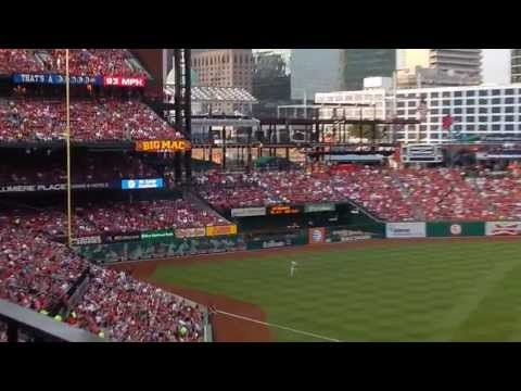 3 Batters, 2 Runs as Carpenter Singles and Holliday Homers in the 1st at Busch Stadium 7/9/2013