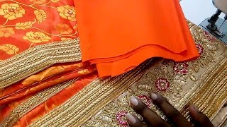 Diwali Saree Blouse Design cutting and stitching class - Blouse Back Neck Design