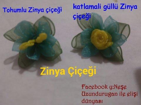 Organze Kurdele oyaları&ZİNYA ÇİÇEĞİ&Forex flower,health flower,holiday flower, Taksim summer flower