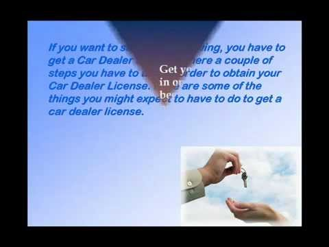 How to Get a Car Auto Dealer License