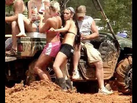 MUD TRUCKS GONE WILD and HOT CHICKS Mud Racing!! Video