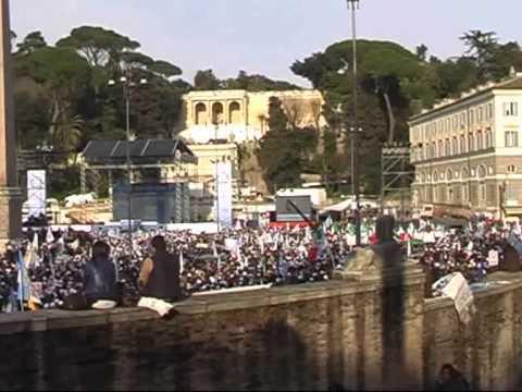 Berlusconi – Piazza del Popolo 23.03.2013 – Roma (Seconda ed ultima parte) HD
