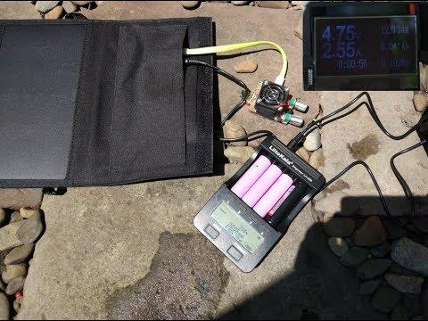 Обзор-тестирование солнечной панели GBtiger 40W (5V 1.5A + DC 19V 1.5A)