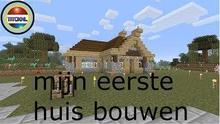 Minecraft Survival eerste huis bouwen #2