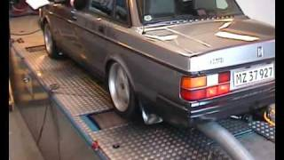 volvo 240 GLT Turbo dynorun