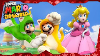 Super Mario 3D World for Wii U ᴴᴰ (2013) Full Playthrough (3-player)