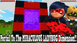 Minecraft Pe - Portal To The Miraculous Ladybug Dimension - Mcpe Portal To The Miraculous Ladybug!!!