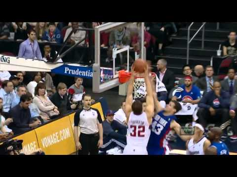 HD   Kris Humphries Blocks Blake Griffin's Alley Oop Dunk   March 7th 2012 720p