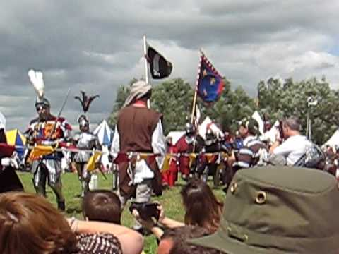 Battle of Tewkesbury re-enactment 12 July 2009: the procession of the armies