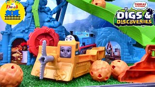 THOMAS AND FRIENDS DIGS & DISCOVERIES Trackmaster Cave Collapse Set with DARCY ToyTrainsofDavid