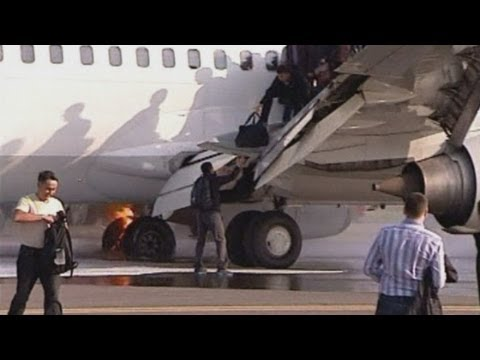 Russian plane catches fire while landing at Moscow airport