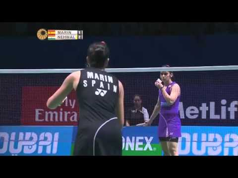 Saina NEHWAL vs Carolina MARIN  World Superseries 2015 Finals-Day 2 WS
