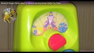 Wizard & Dragon Boots Wind Up Musical Moving Screen Radio Toy Video