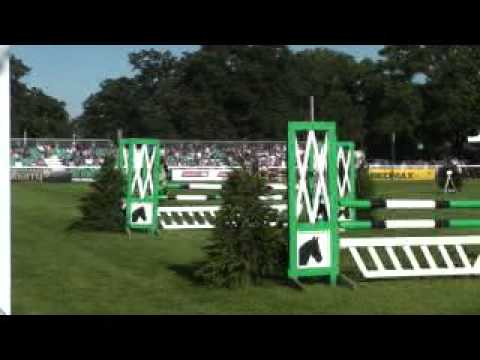 Diana Bevan with A Touch Of Spice Burghley PC Showjumping
