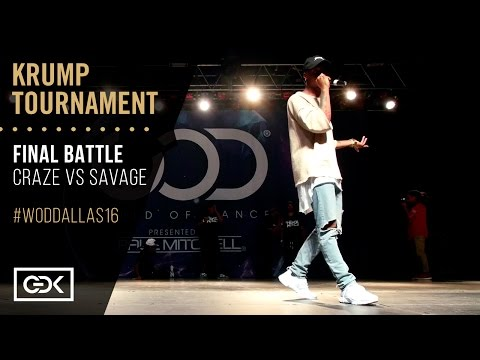 CRAZE vs SAVAGE   Krump Final Battle   World of Dance Dallas 2016   #WODDALLAS16