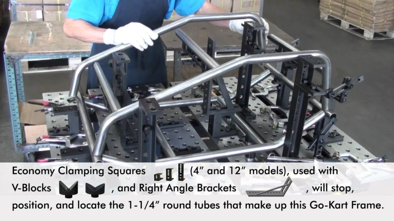 Fixturing Case Study On The Buildpro Welding Table Youtube