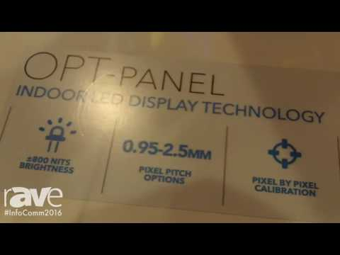 InfoComm 2016: Optec Displays Shows The OPT Panel Indoor LED Display Technology
