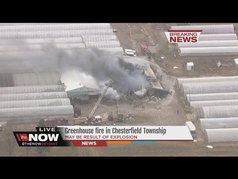 Fire breaks out at Chesterfield Township greenhouse off 23 Mile Road