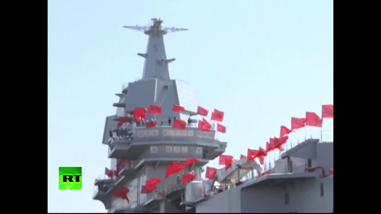 RAW: First aircraft carrier built in China sets out for trials