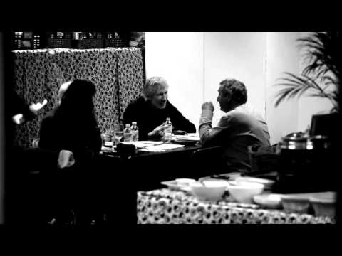 David Gilmour, Roger Waters and Nick Mason back stage 2011