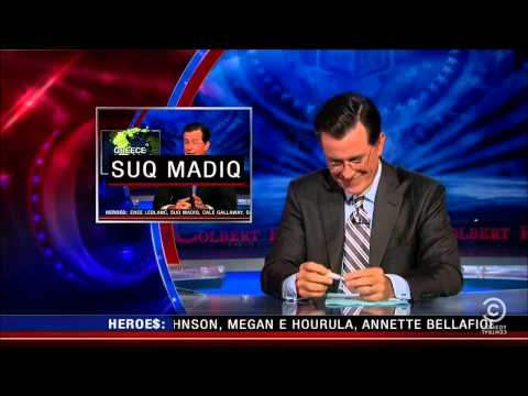 Colbert Cracks Up - Suq Madiq