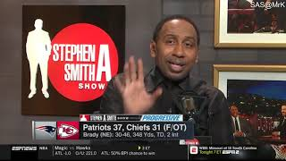 Stephen A. Smith reacts to Chiefs fall to Patriots
