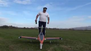 H-King SkySword 1200mm Orange 90mm EDF Jet (PNF) Maiden flight