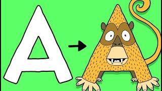 A for Ape - Learn To Draw ABC   Øistein Kristiansen
