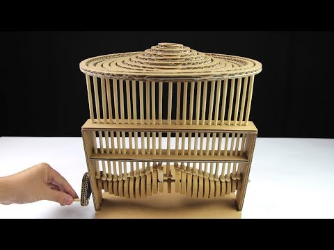 Wow! DIY Water Experiment Automata using Cardboard - Just5mins