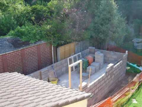How to build a garage youtube for Brick garden shed designs