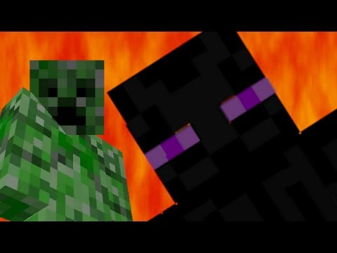 Creeper vs Enderman - Epic Rap Battles of Minecraft Music Videos
