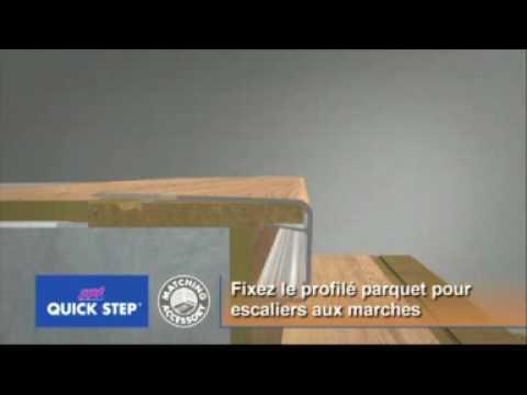 Profil d 39 escalier quick step for Pose carrelage sur escalier