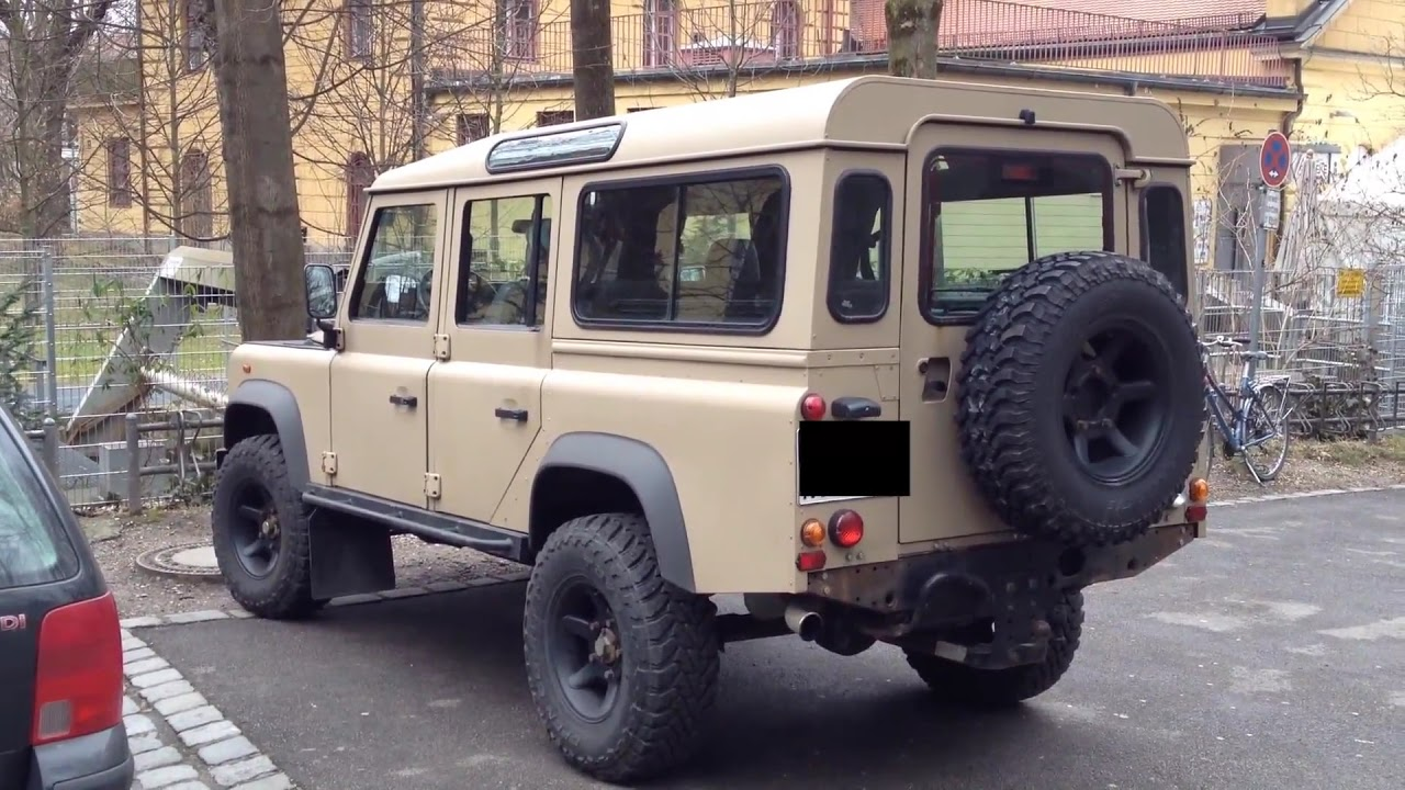 All Terrain Tires >> Land Rover Defender - big Tires Desert & Mud Terrain - YouTube